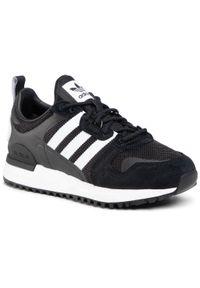 Adidas - Buty adidas - Zx 700 Hd FX5812 Cblack/Ftwwht/Cblack. Zapięcie: sznurówki. Kolor: czarny. Materiał: materiał. Szerokość cholewki: normalna. Styl: klasyczny, retro