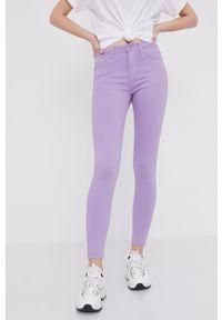 Fioletowe jeansy Answear Lab gładkie, wakacyjne
