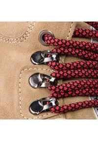 Beżowe buty trekkingowe Bronx z cholewką