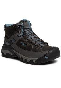 Szare buty trekkingowe keen z cholewką, trekkingowe