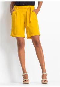 Żółte spodnie bonprix eleganckie