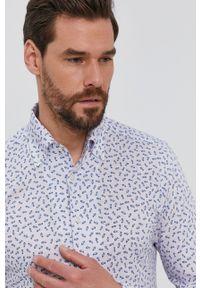 Emanuel Berg - Koszula bawełniana. Typ kołnierza: button down. Kolor: niebieski. Materiał: bawełna. Długość rękawa: długi rękaw. Długość: długie