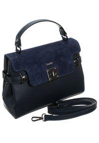 Niebieska torebka ROVICKY retro, zamszowa