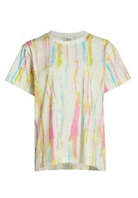 HEMANT & NANDITA - Koszulka Tie-Dye. Kolor: beżowy. Materiał: materiał. Wzór: nadruk