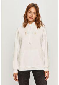 Biała bluza Levi's® z długim rękawem, z kapturem, biznesowa, długa