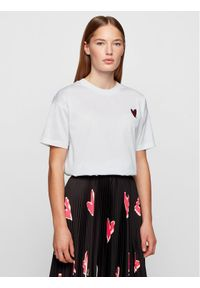 BOSS - Boss T-Shirt Elenas 50444750 Biały Regular Fit. Kolor: biały