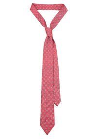 Czerwony krawat Lancerto klasyczny, paisley