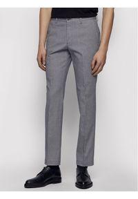 BOSS - Boss Spodnie materiałowe Stanino17-W 50450182 Szary Slim Fit. Kolor: szary. Materiał: materiał