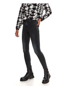 TOP SECRET - Jeansy z lampasami. Kolor: czarny. Materiał: jeans. Długość: długie. Sezon: zima