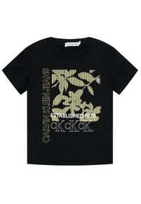 Czarny t-shirt Calvin Klein Jeans z nadrukiem