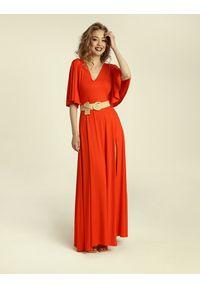 Madnezz - Sukienka Senorita - chilli. Typ kołnierza: dekolt w kształcie V. Materiał: wiskoza, elastan. Typ sukienki: w kształcie A. Styl: elegancki