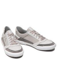 Geox - Sneakersy GEOX - U Kaven B U156MB 0CLFU C1318 Grey/Lt Grey. Okazja: na co dzień. Kolor: szary. Materiał: skóra, nubuk. Szerokość cholewki: normalna. Styl: sportowy, casual