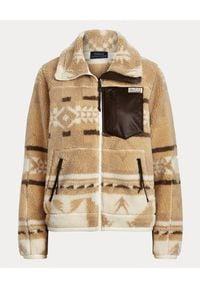 Ralph Lauren - RALPH LAUREN - Wzorzysta bluza. Kolor: brązowy. Materiał: jeans, polar. Długość rękawa: długi rękaw. Długość: długie. Sezon: wiosna. Styl: klasyczny #2