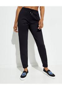 Kenzo - KENZO - Czarne spodnie dresowe Sport. Kolor: czarny. Materiał: dresówka. Długość: długie
