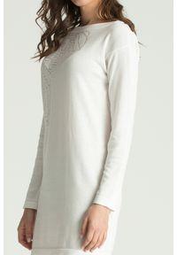 Sweter Versace Collection krótki, z długim rękawem, na spacer