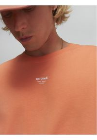 Sprandi T-Shirt SS21-TSM009 Pomarańczowy Regular Fit. Kolor: pomarańczowy