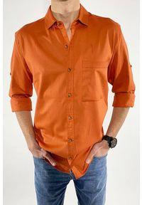 Pomarańczowa koszula IVET casualowa, na co dzień