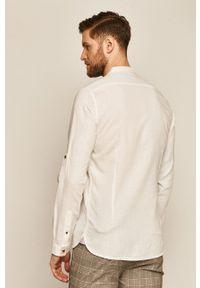 Biała koszula medicine ze stójką, na co dzień, długa