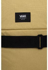 Vans - Plecak. Kolor: żółty. Materiał: włókno, tkanina. Wzór: aplikacja