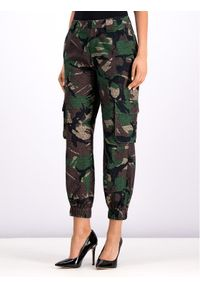 Zielone spodnie materiałowe Guess