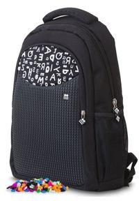 Pixie Crew Plecak szkolny, czarny w litery. Kolor: czarny