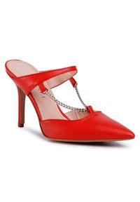 Czerwone klapki Eva Minge