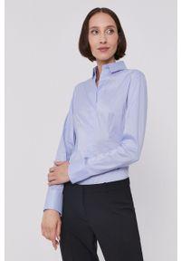 BOSS - Boss - Koszula. Okazja: na co dzień. Kolor: niebieski. Długość rękawa: długi rękaw. Długość: długie. Styl: casual