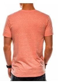 Pomarańczowy t-shirt basic Ombre Clothing