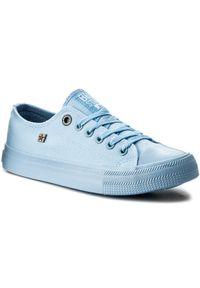 Big-Star - Trampki BIG STAR - AA274029 Lt. Blue. Okazja: na co dzień. Kolor: niebieski. Materiał: materiał. Szerokość cholewki: normalna. Styl: casual