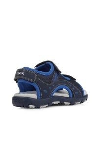 Niebieskie sandały Geox na rzepy