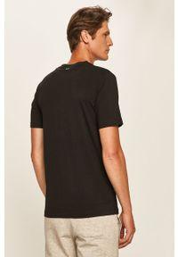 Czarny t-shirt Calvin Klein Performance na co dzień, casualowy, z okrągłym kołnierzem