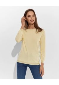 CAPPELLINI - Żółty sweter. Kolor: żółty. Materiał: materiał. Styl: sportowy