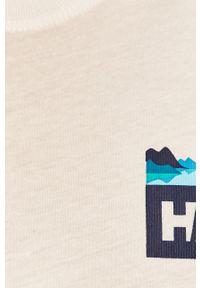 Biały t-shirt Helly Hansen z nadrukiem, casualowy