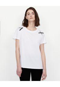 Czarny t-shirt Armani Exchange z nadrukiem