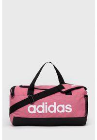 Adidas - Torba. Kolor: różowy. Materiał: materiał. Wzór: nadruk