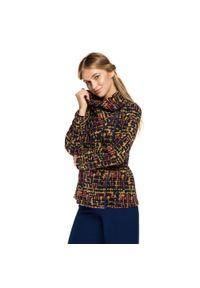 Płaszcz Wittchen w kolorowe wzory, na zimę, krótki