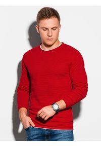 Czerwony sweter Ombre Clothing elegancki, na co dzień