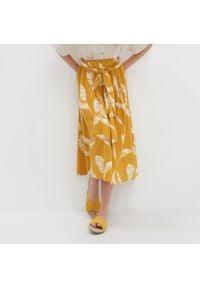 House - Spódnica midi - Żółty. Kolor: żółty
