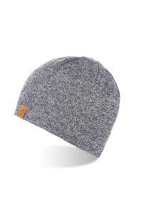 Szara czapka BRODRENE sportowa, na zimę, z aplikacjami