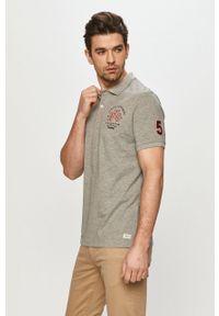 Szara koszulka polo PRODUKT by Jack & Jones casualowa, gładkie