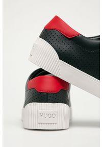 Niebieskie sneakersy Hugo z cholewką, na sznurówki