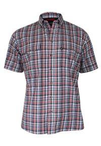 Czerwona koszula casual Jurel krótka, z krótkim rękawem, z klasycznym kołnierzykiem