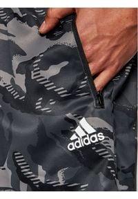 Adidas - adidas Szorty sportowe Designed To Move Camouflage GP2660 Szary Regular Fit. Kolor: szary
