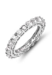 Braccatta - FIRI 3 Srebrny pierścionek obrączka cyrkonie. Materiał: srebrne. Kolor: srebrny. Kamień szlachetny: cyrkonia