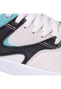 Sneakersy DC - Kalis Vulc ADYS300569 Grey/Black/White (Xskw). Okazja: na co dzień. Kolor: beżowy. Materiał: skóra, materiał, zamsz. Szerokość cholewki: normalna. Styl: klasyczny, casual