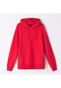 Cropp - Bluza basic z kapturem - Czerwony. Typ kołnierza: kaptur. Kolor: czerwony
