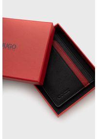 Hugo - Etui na karty. Kolor: czarny. Materiał: materiał. Wzór: gładki