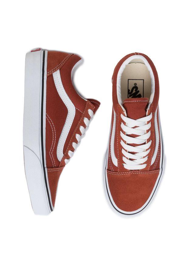 Brązowe buty sportowe Vans Vans Old Skool, z cholewką