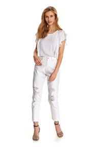 Białe spodnie TOP SECRET casualowe, na lato, na co dzień