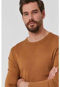TIGER OF SWEDEN - Tiger Of Sweden - Sweter. Okazja: na co dzień. Kolor: brązowy. Materiał: dzianina. Styl: casual